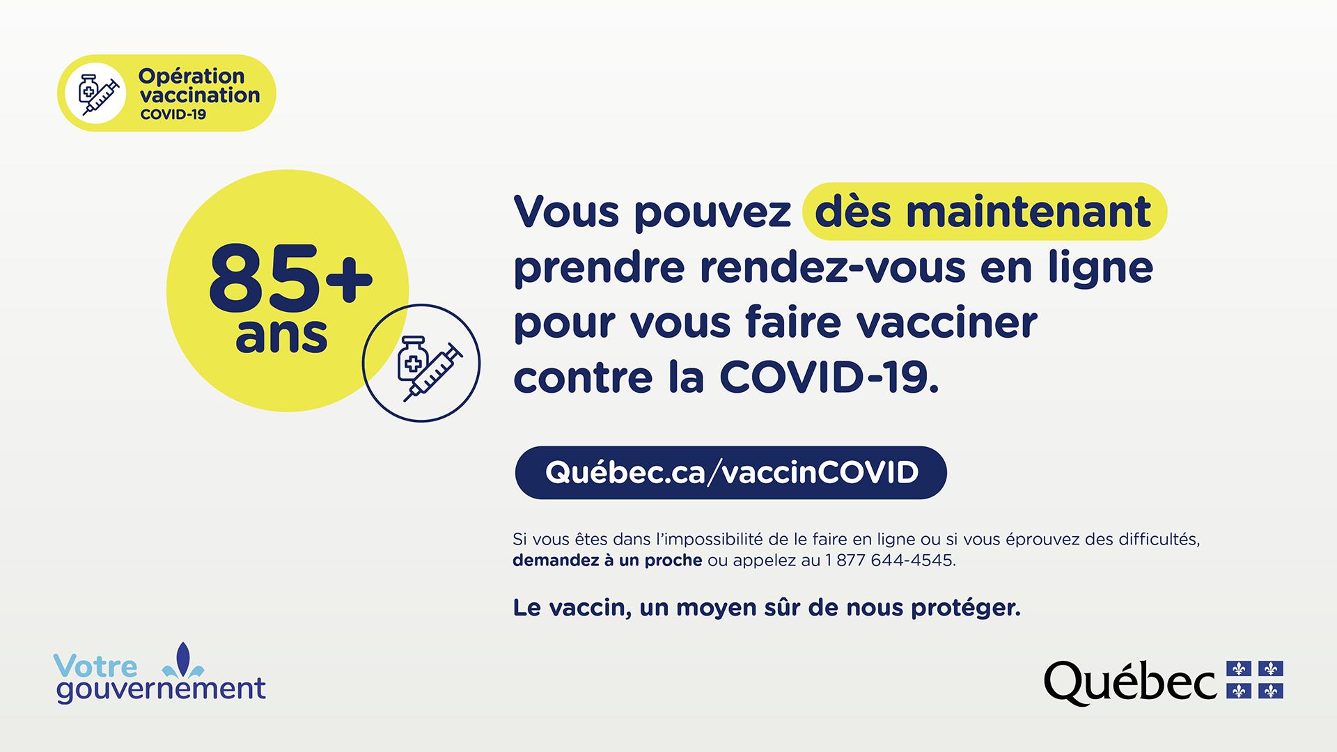 La campagne de vaccination contre la Covid-19 pour les personnes aînées est lancée