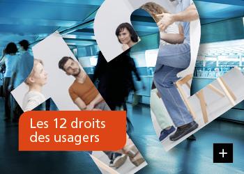 Les 12 droits des usagers