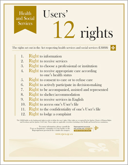 Users' 12 rights