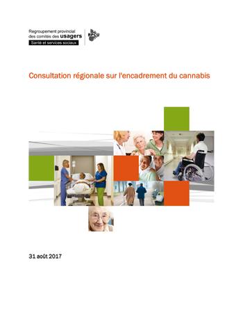 Consultation régionale sur l'encadrement du cannabis