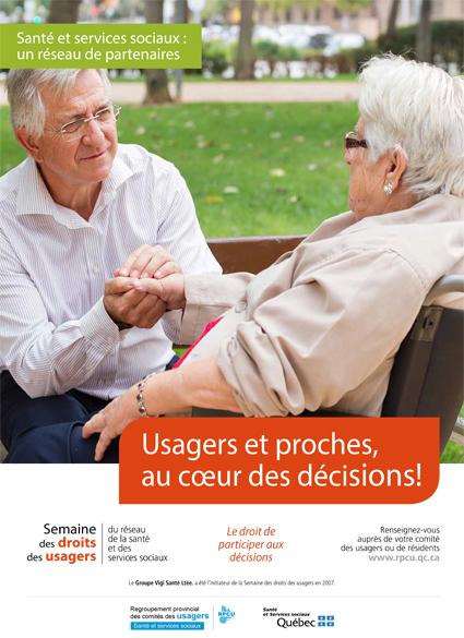 Affiche 2 – Semaine des droits des usagers 2019 – Usagers et proches, au cœur des décisions
