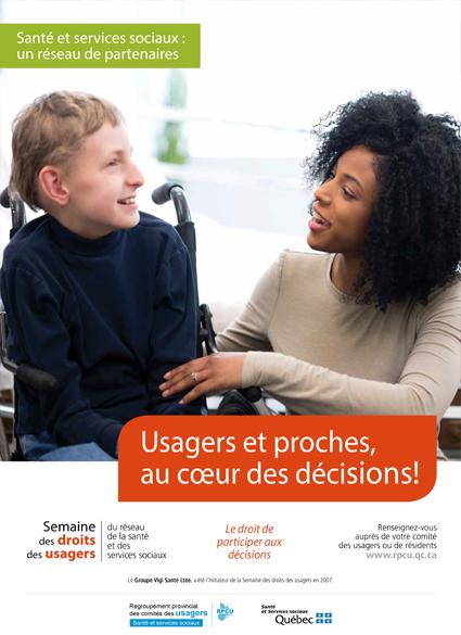 Affiche 3 – Semaine des droits des usagers 2019 – Usagers et proches, au cœur des décisions