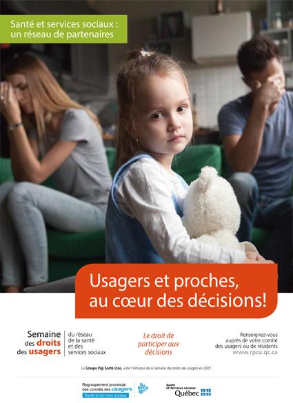 Affiche 4 – Semaine des droits des usagers 2019 – Usagers et proches, au cœur des décisions