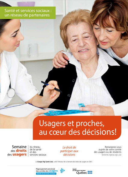 Affiche 5 – Semaine des droits des usagers 2019 – Usagers et proches, au cœur des décisions