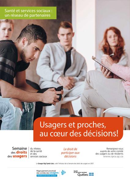 Affiche 6 – Semaine des droits des usagers 2019 – Usagers et proches, au cœur des décisions