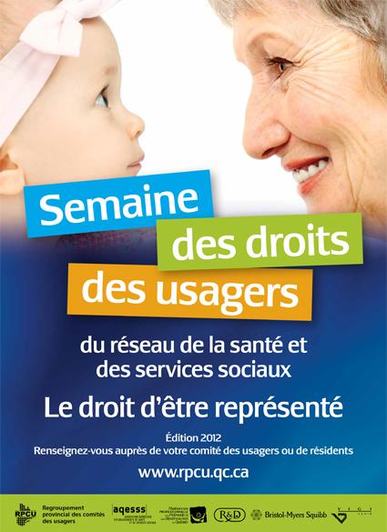 Semaine des droits des usagers 2012 – Le droit d'être représenté