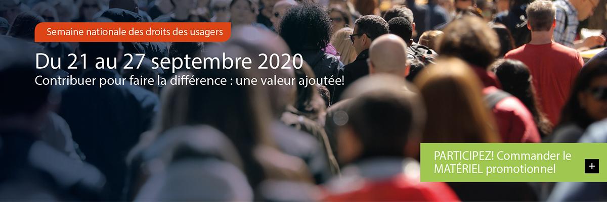 Semaine des droits des usagers 2020