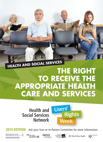 2014 Edition – September 26 to October 3, 2014 – The right to receive appropriate health care and services