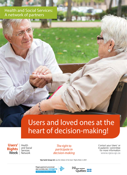 Poster 2 – 2019 Users' Rights Week – Users and loved ones at the heart of decision-making